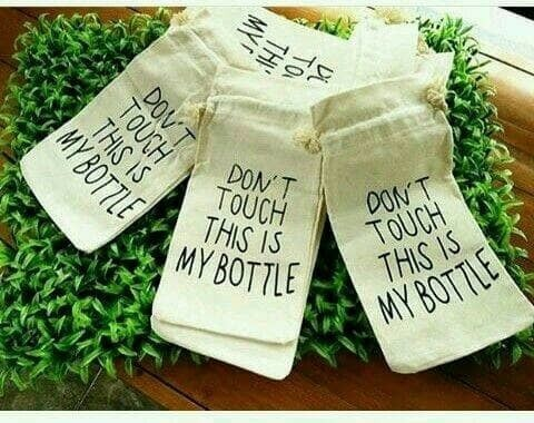 Sarung My Bottle Kain Wadah Pouch Infused Water � 962
