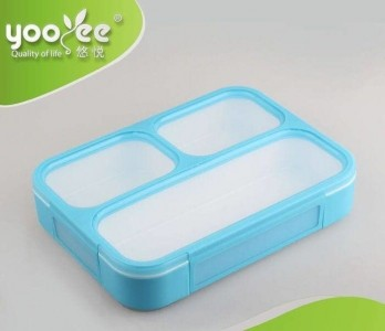Yooyee Grid Box Lunch Box Kotak Makan 3 Sekat Anti Tumpah - 964
