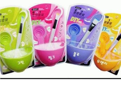 Masker Bowl 4 in 1 Set 4in1 Beauty DIY Tools Mask Wajah Sendok Takaran Alat Aduk Kuas – 430