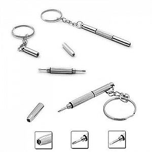 Gantungan Kunci Obeng Mini Screwdriver Keychain 4 in 1 Mini Stainless – A355